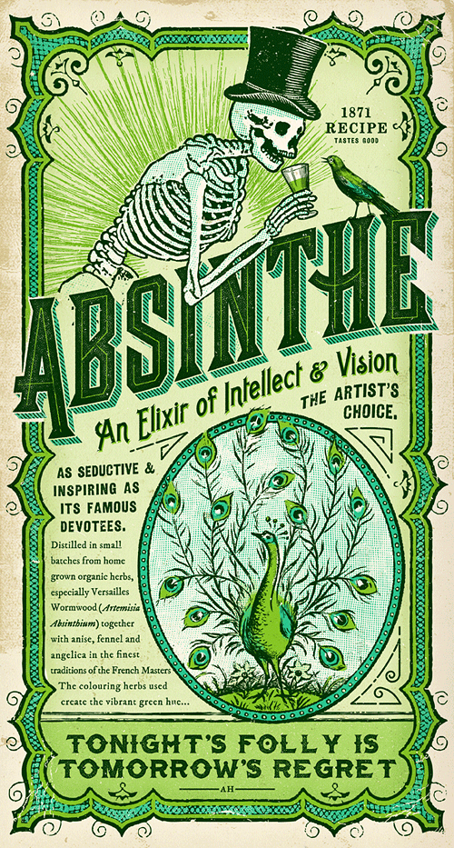 Absinthe Label Amp Print Adam Hill Velcrosuit Graphic