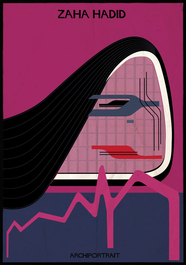 Beautiful Portraits Of Famous Architects Comprised Using