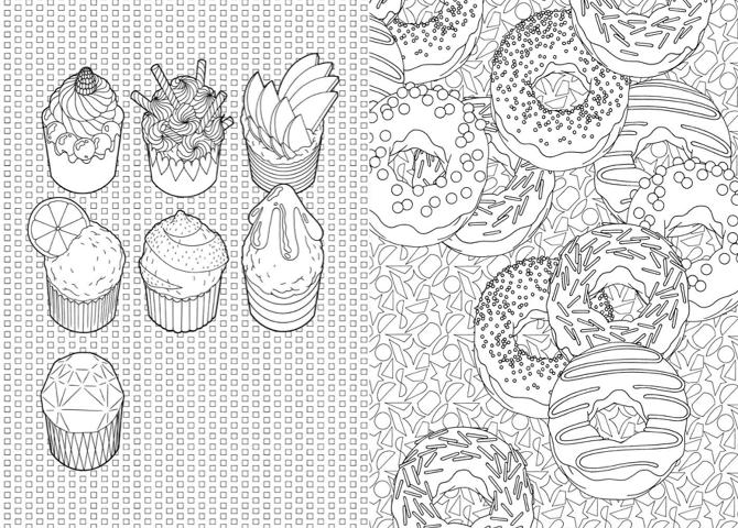 100 Cupcakes 224 Colorier Http Anne Margot Com